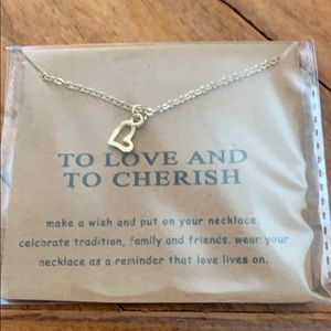 """""""To love and to cherish"""" heart necklace"""